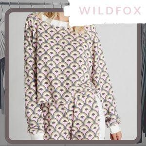 🆕🦊 NWT WILDFOX Deco Hearts Monte Crop Sweater
